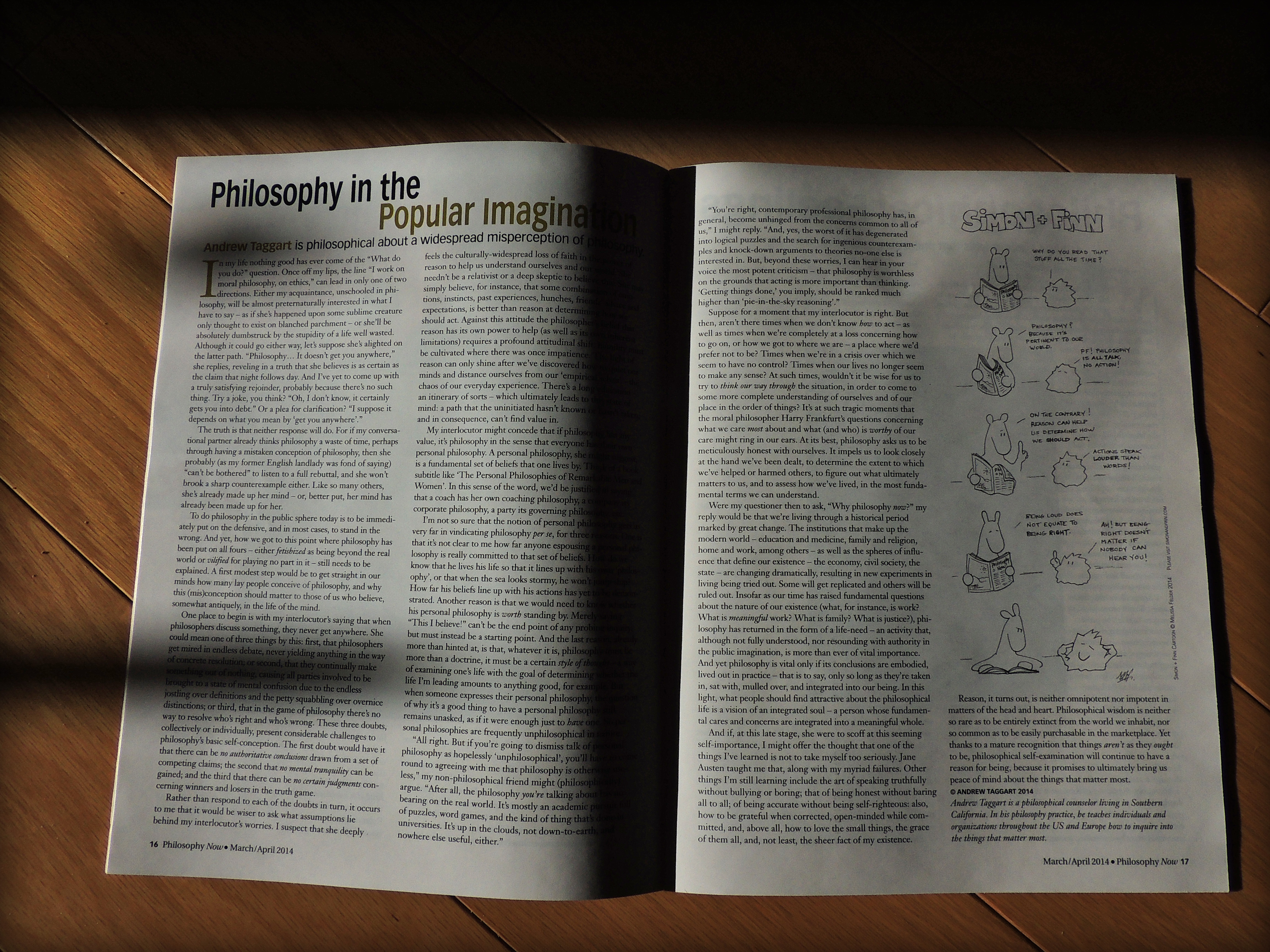 essays andrew james taggart practical philosopher ph d putting lives in order the philosophers magazine 57